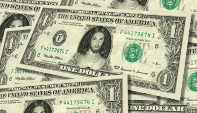"The ""Jesus Dollar Bill"" for sale on Celebrity-Cash.com for $4.75"