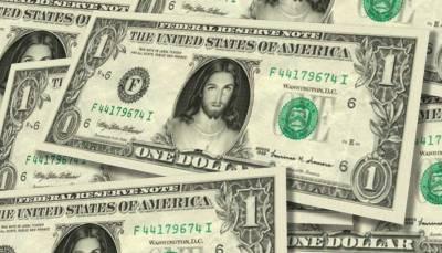 """The """"Jesus Dollar Bill"""" for sale on Celebrity-Cash.com for $4.75"""